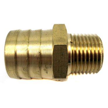 "BARB THERMOSTAT HOUSING HOSE BARB BRASS STRAIGHT FITTING 1/2"" INCH NPT X 1"" INCH  OEM 50-512-017"