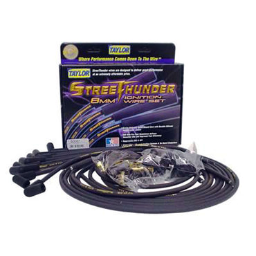 Taylor Street Thunder Spark Plug Wire Set 8MM Black