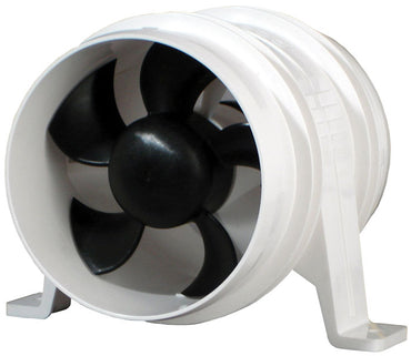 Blower 4 Inch 12V In-Line White Rule Water Resistant