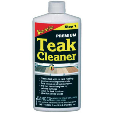 The ultimate teak cleaner from Star Brite that is the finest cleaner for marine teak!