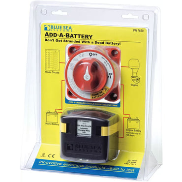 Battery Isolator Switch Add-A-Battery Blue Sea Systems 7650