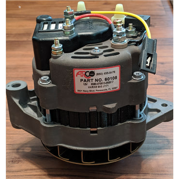 "Alternator 55 Amp Internal Regulator Yellow Lead PCM And Inmar <b>3/8"" </b>V-Belt Pulley"