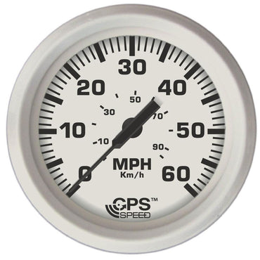 SPEEDOMETER GPS DRESS WHITE INBOARD 60 MPH - FARIA BEEDE INSTRUMENTS