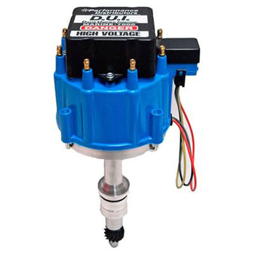 DISTRIBUTOR DUI PERFORMANCE FORD 351 RIGHT HAND REVERSE ROTATION BLUE COLOR - DUI-M35820RRBL