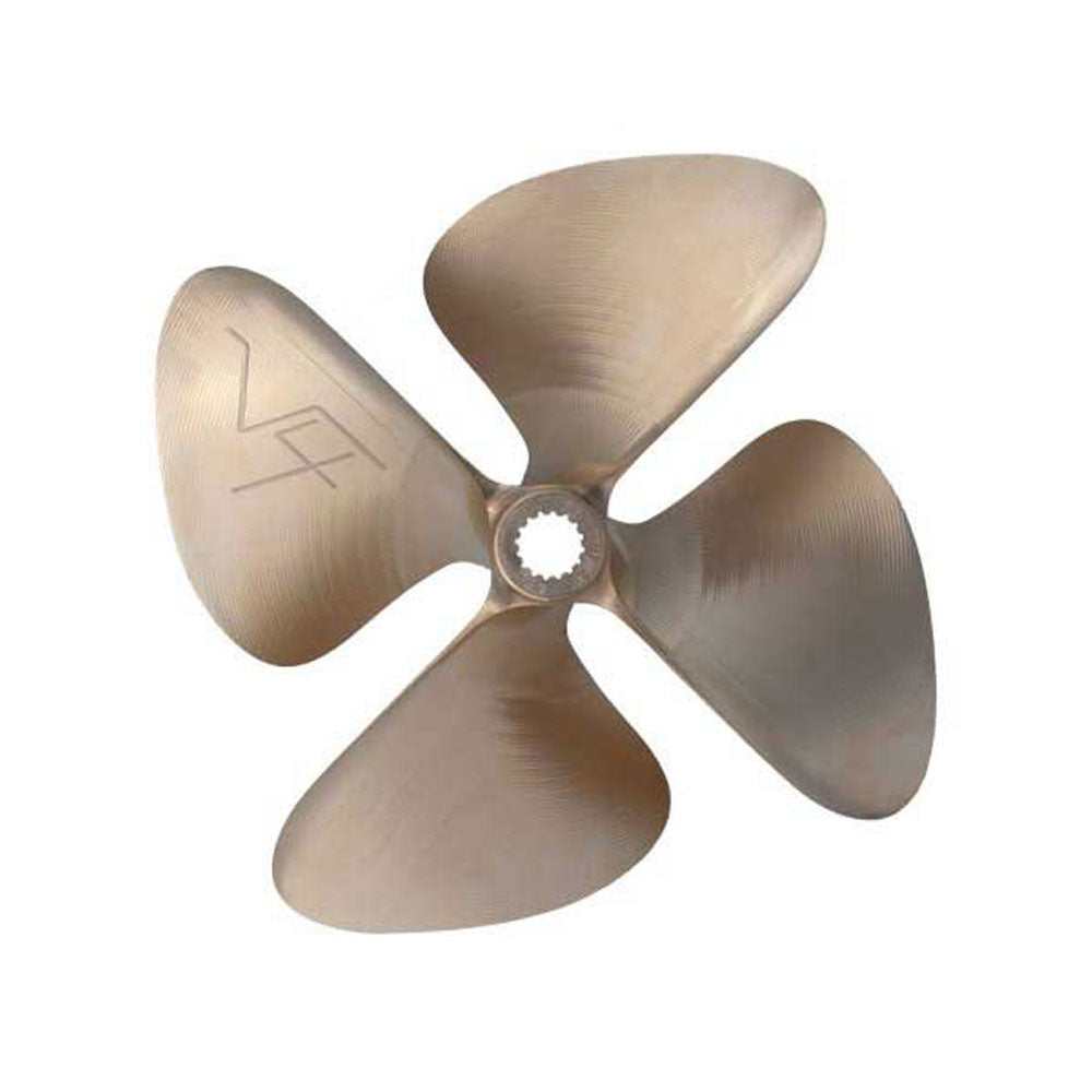 # 1897 OJ WAKEPRO-V3 - 4 BLADE PROPELLER SPLINED LEFT HAND 15.00 X 12.00 CUP .120 NEW V-4 SERIES