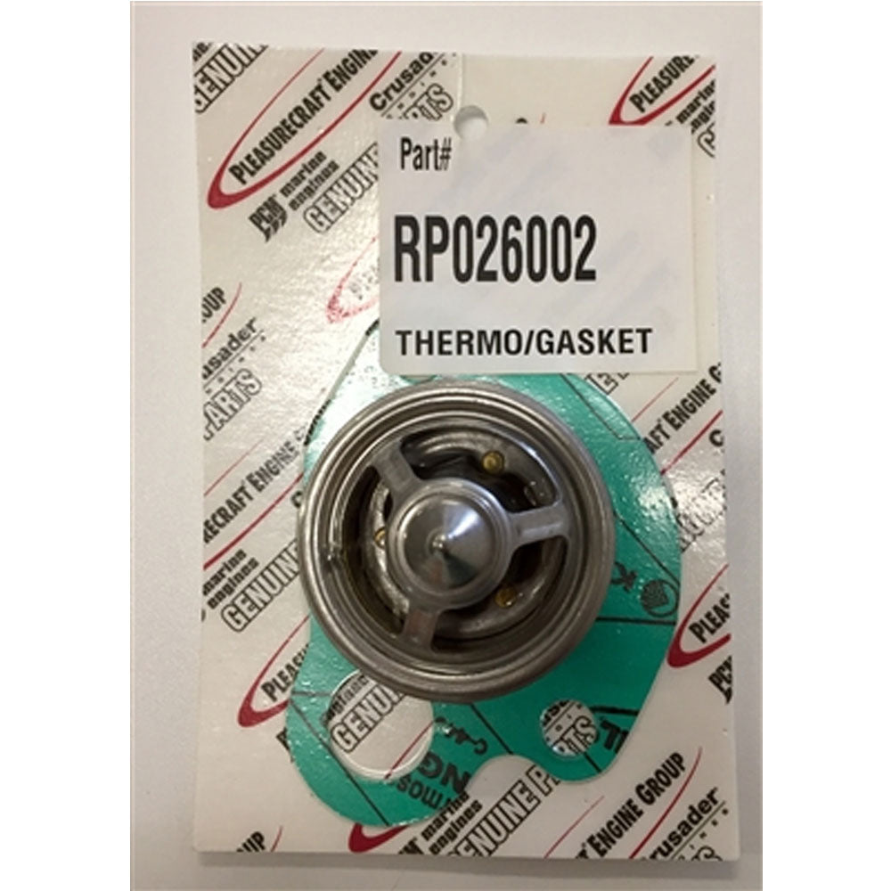 THERMOSTAT WITH GASKET 160 DEGREE PCM FORD RAW WATER COOLED PCM BRAND RP026002