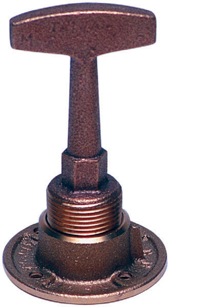 DRAIN PLUG 3/4 INCH NPT COMPLETE ASSEMBLY T-HANDLE  AND DRAIN PLUG BRONZE GARBOARD