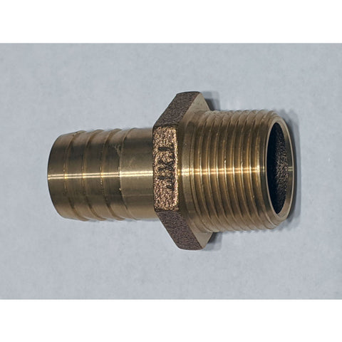 "Hose Barb <b>1 Inch Straight Brass</b> For Marine Hardware <b>1""</b> Strainers OEM Marine Hardware"