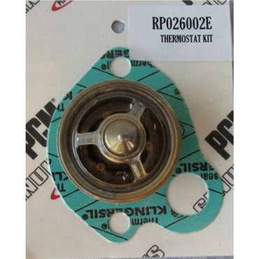 THERMOSTAT 143 DEGREE PCM FORD 351-302 RAW WATER COOLED WITH GASKET PCM BRAND RP026002E