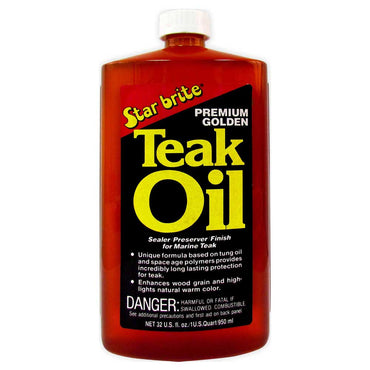TEAK OIL PREMIUM GOLDEN STAR BRITE - 32oz