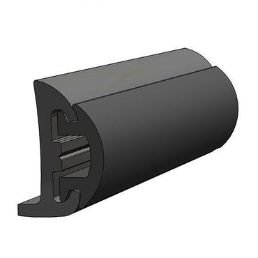 RUB RAIL KIT COMPLETE KIT SEMI RIGID VINYL <b>BLACK RAIL</b> WITH <b>BLACK INSERT</b> 50' BY TACO MARINE