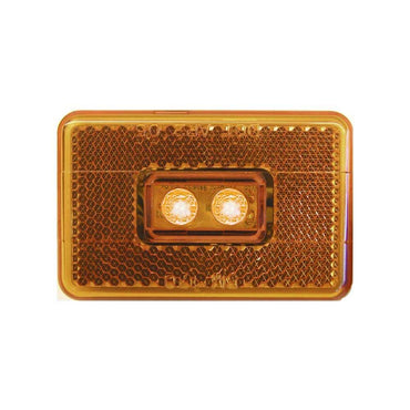Light LED Amber Side Light Piranha - Peterson V170A Clearance Side Marker Light with Reflex