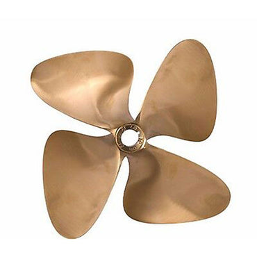 "# 1233 OJ FORCE 4 BLADE PROPELLER 1"" BORE LEFT HAND 13.00 X 14.00"