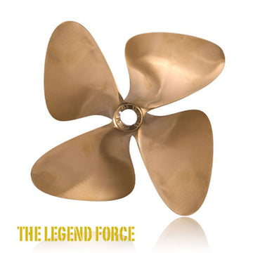 "# 1284 OJ FORCE 4 BLADE PROPELLER 1-1/8"" BORE RIGHT HAND 14.00 X 18.00"