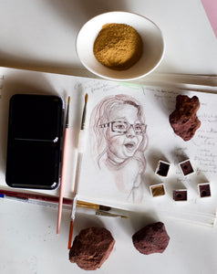 Make your own watercolor paint from dirt