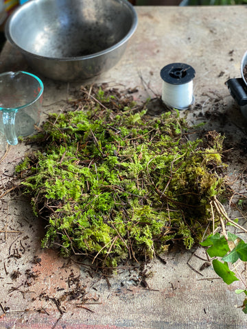 sphagnum moss sheet for Kokedama, floating island moss ball planter by Moon Magic Co