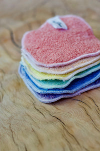 Organic Rainbow Moon facial cloth set.