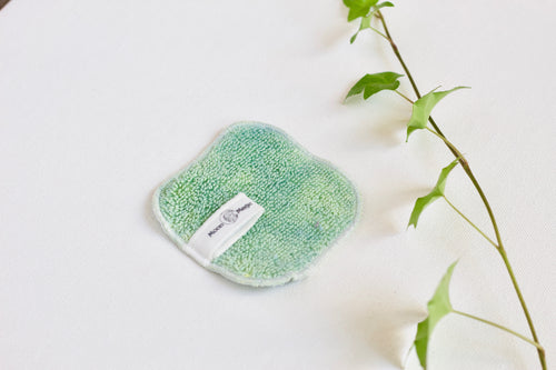Jade Moon Facial Cloth, Organic Herbal facial cloth for dry + oily skin care