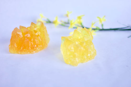 Organic Citrine crystal soap Cluster