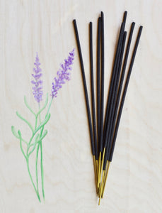 Lavender incense, Botanical hand dipped