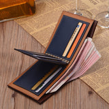 Vintage Men Leather Brand Luxury Wallet Short Slim Male Purses Money Clip Credit Card Dollar Price Portomonee Carteria