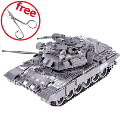 Piececool DIY 3D Metal Puzzle Toy P047S T-90A Tank Model Kits Assembled Metal Craft 3D Puzzles Kids Toys