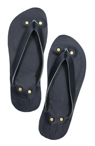 Penny Lane Flip Flops in Black