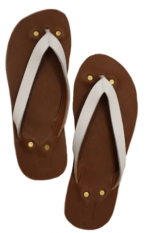 Penny Lane Flip Flops in White