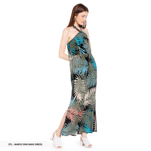 Stilo Marylynn Leaves Twist Maxi Regular Dress SALE 40%
