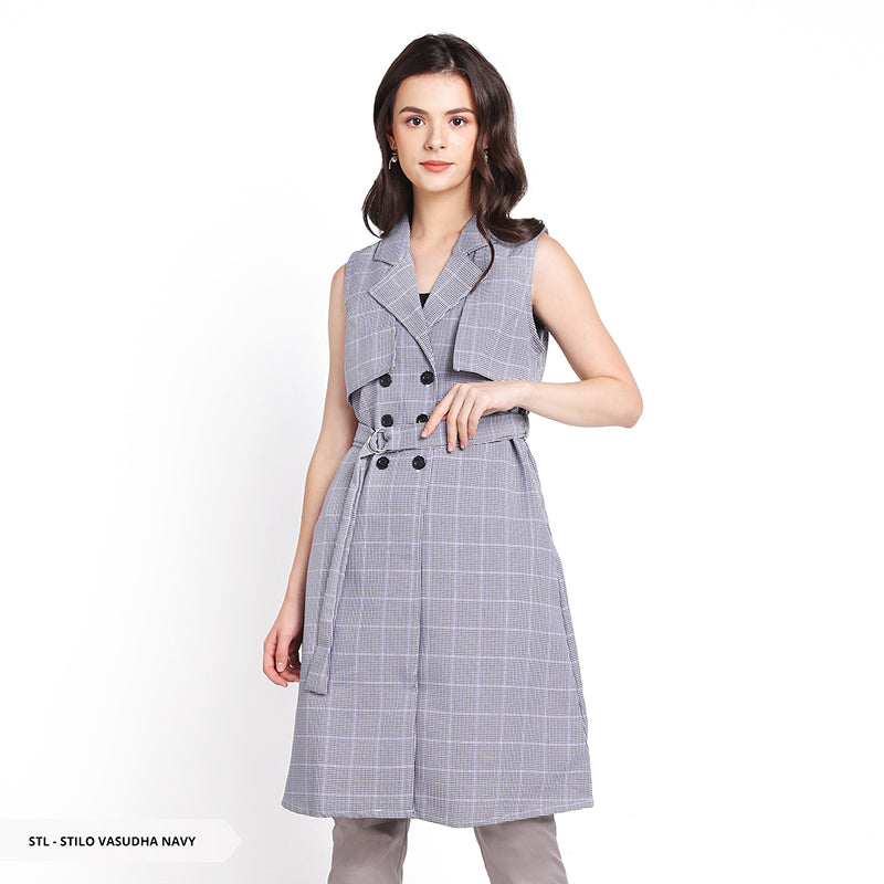 Stilo Vasudha Houndstooth Flap Regular Outer Sale 35%
