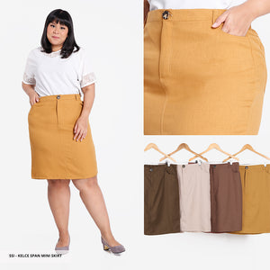 Kelce Plain Span Big Mini Skirt