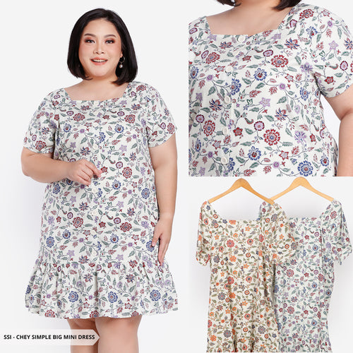 Chey Flowery Simple Big Mini Dress SALE 25%