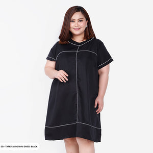Tafkiya Plain Collar Big Mini Dress