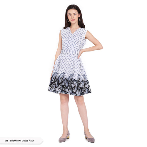 Stilo Epianva Paisley V-Neck Regular Mini Dress Sale 40%