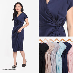 Hertikha Plain Asymmetric Regular Midi Dress Sale 35%