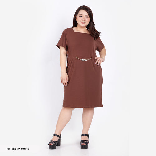 Ujjolsa Plain Bodycon Big Mini Dress