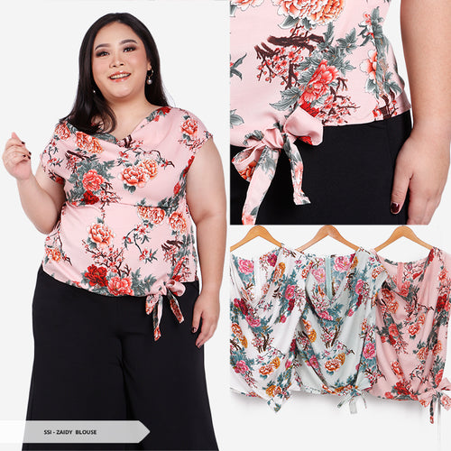 Zaidy Flowery Simple Big Blouse SALE 35%