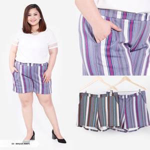 Benjiza Stripe Casual Big Short Pants
