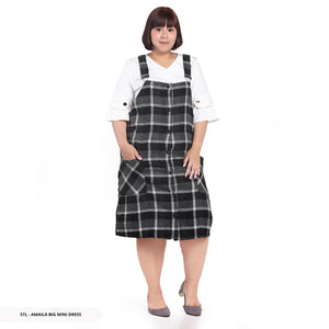 Stilo Amaila Plaid Overall Big Mini Dress