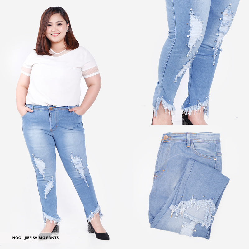 Jiefisa Pearl Ripped Big Pants