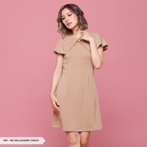 Y&F Willoughby Texture Flare Regular Mini Dress
