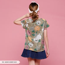 Load image into Gallery viewer, Y&F Saddie Flowery Drape Regular Blouse