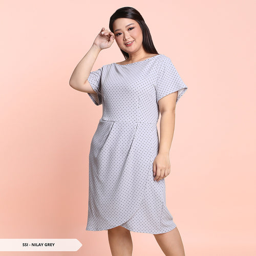 Y&F Nilay Polkadot Pleats Big Mini Dress