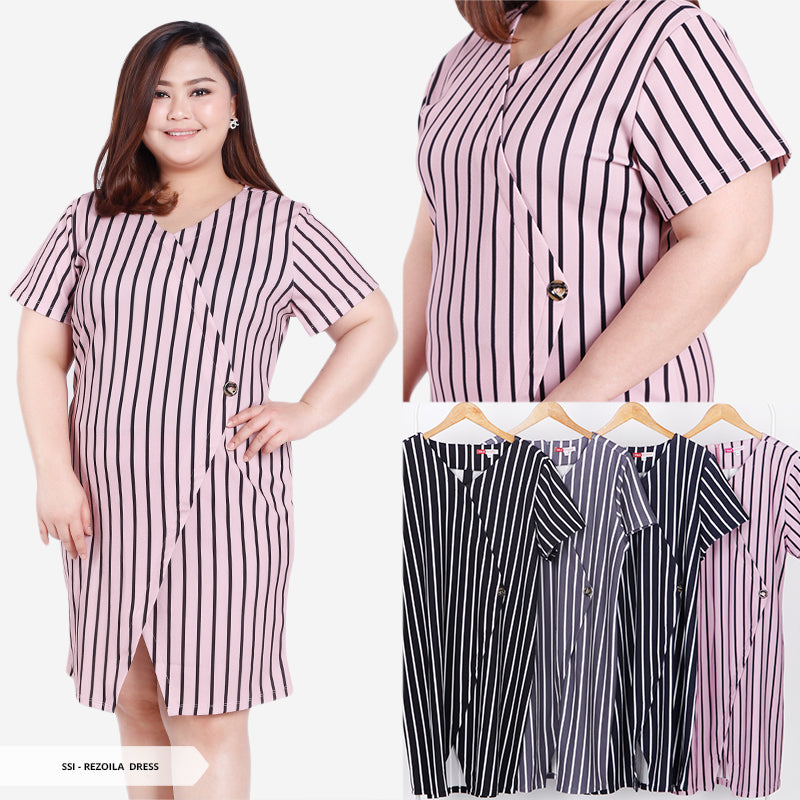 Rezoila Stripe Bodycone Big Mini Dress
