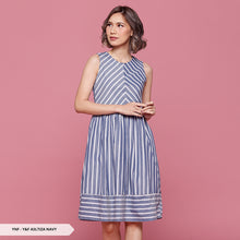 Load image into Gallery viewer, Y&F Asltiza Stripe Flare Regular Midi Dress