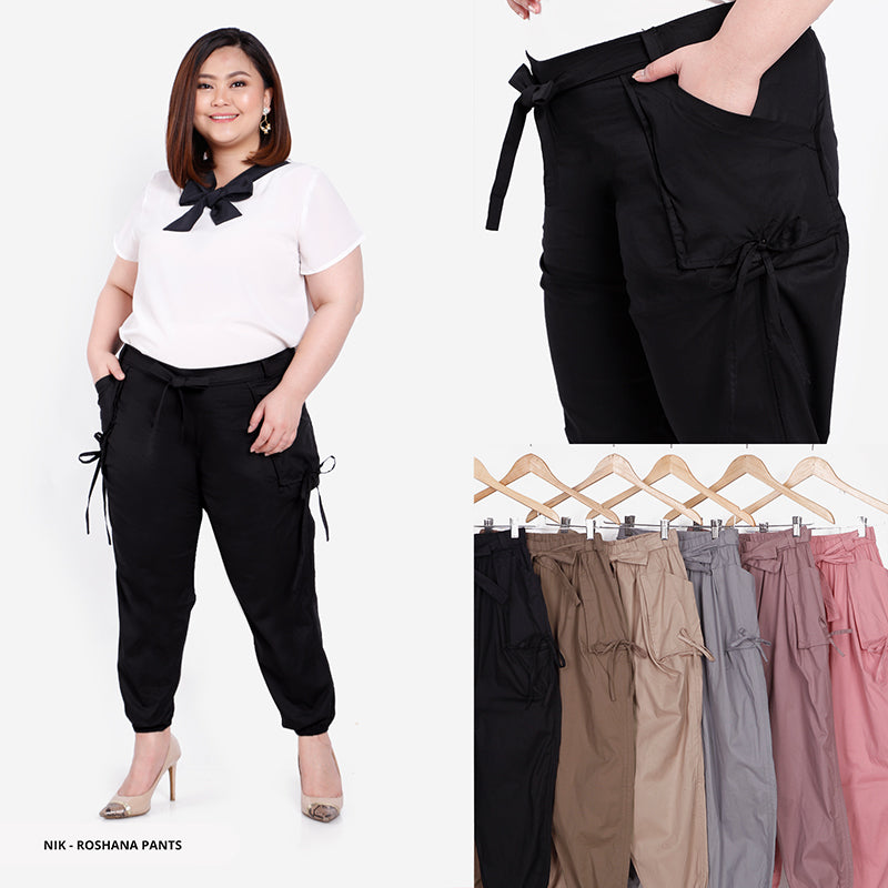 Roshana Plain Comfy Big Jogger Pants