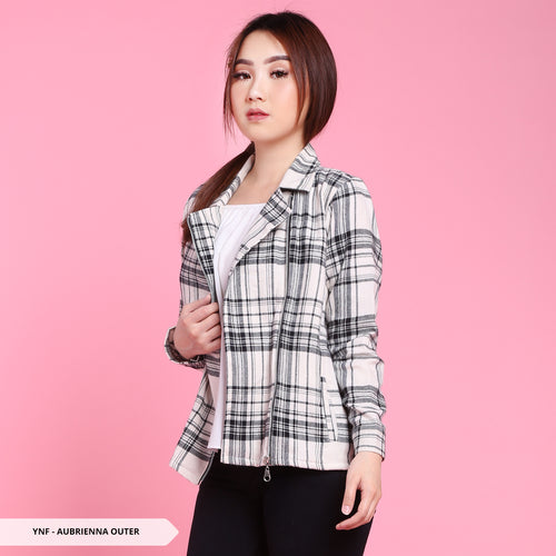 Y&F Aubrienna Flanel Collar Regular Outer Sale 35%