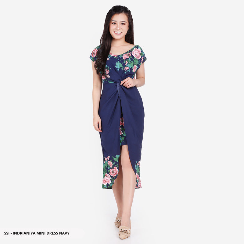 Indrianiya Flowery Knot Reguler Mini Dress