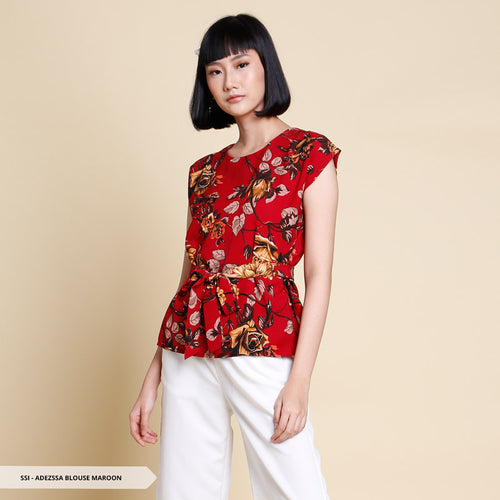 Adezssa Flowery Ribbon Regular Blouse SALE 35%