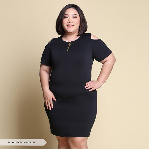 Aeysha Plain Bodycon Big Mini Dress